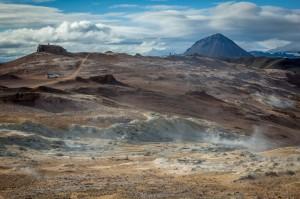 les champs de lave de Leirhnajutur.